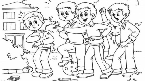 bullying escolar dibujos para pintar imagui