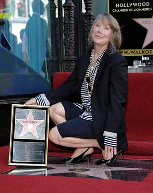 Sissy Spacek devela su estrella en Hollywood