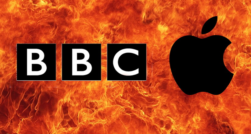 Guerra entre la BBC y Apple