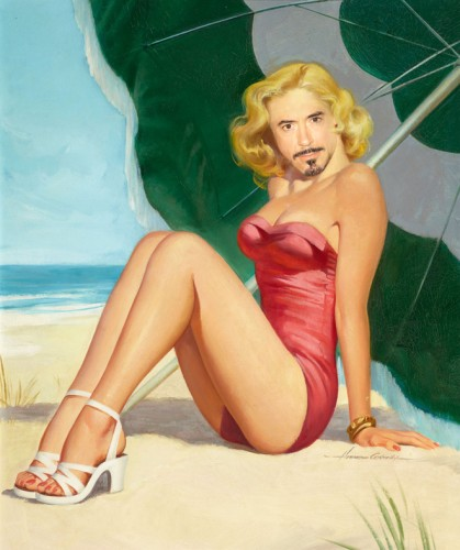 El sexy pin-up Downey Jr.