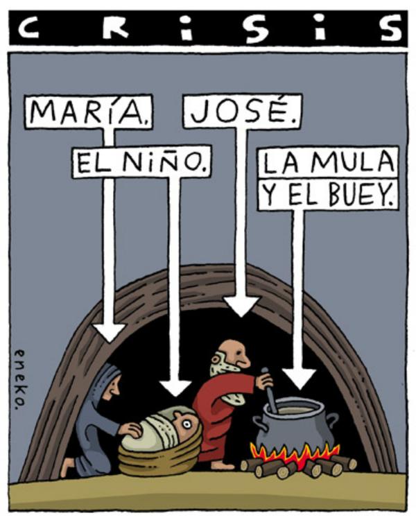 Resultado de imagen de República Española. Crisis: María, el Niño, José y... la mula y el buey, de Eneko