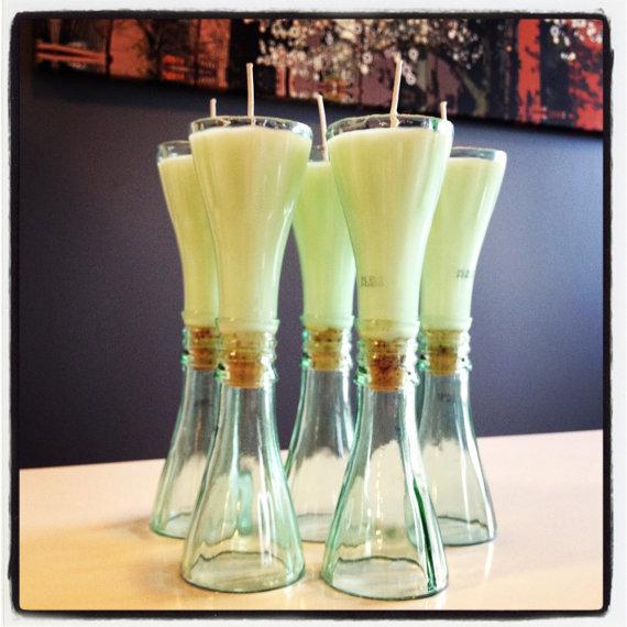 Post velas pico de botella - Botellas con velas ...