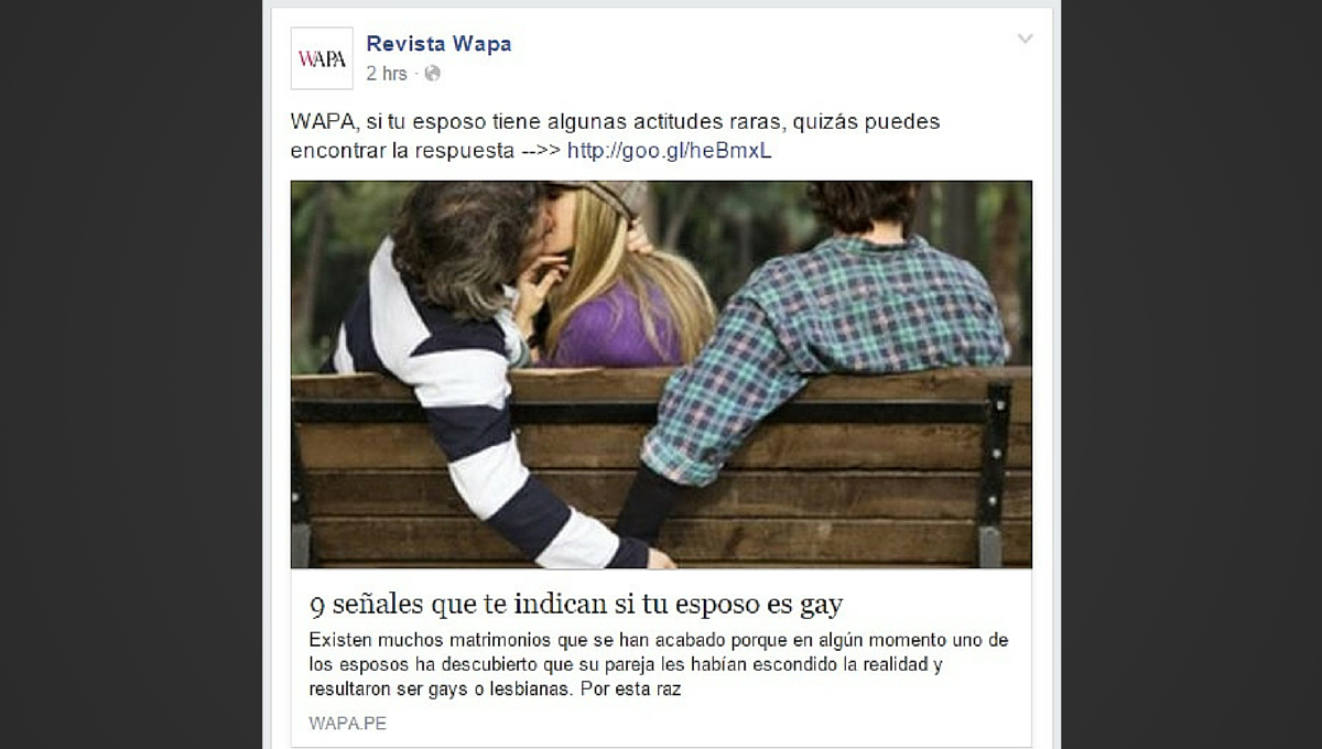 ¿Mi esposo es gay? Una anti-guía