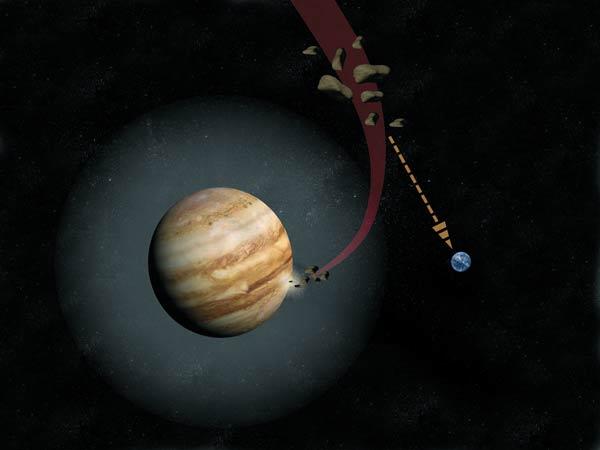 Noticia: Júpiter nos protege de grandes asteroides y cometas que  colisionarían con la Tierra
