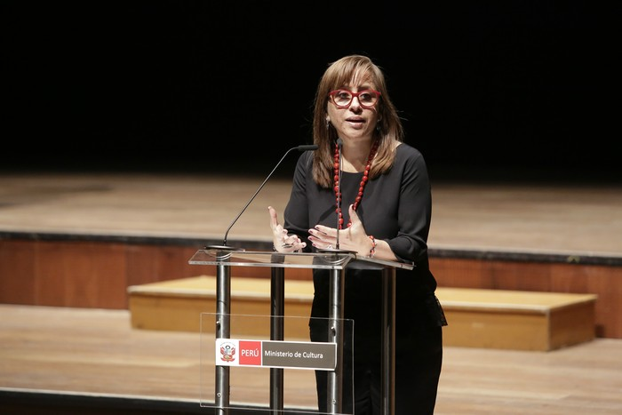 Foto: Elena Burga, exviceministra de Interculturalidad / Fuente: Oficina de Comunicaciones e Imagen Institucional del Ministerio de Cultura