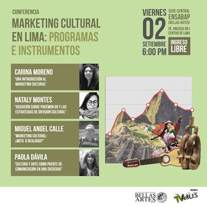 "TVRobles realizará conferencia ""Marketing Cultural en Lima"" en la ENSABAP"