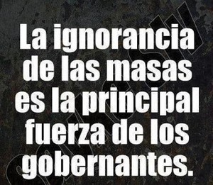 SOMETIMIENTO, IGNORANCIA Y ALIENACION