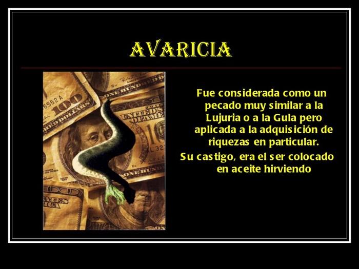 Post La Avaricia Es Un Pecado Capital