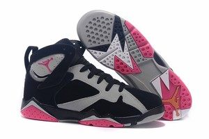 2016 Jordan Ret7 VII Pink Black Grey Basketball Shoe www.Jordanknicks.com
